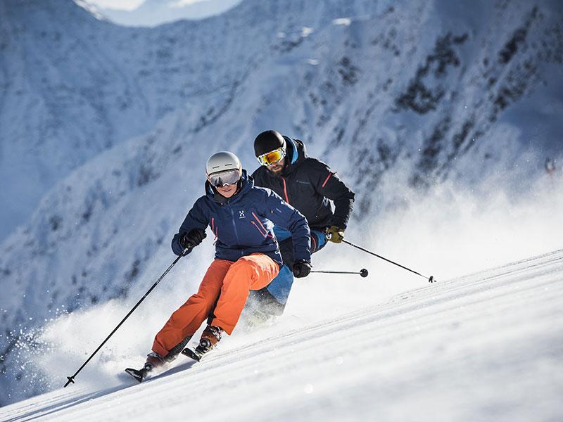 Skifahren am Stubaier Gletscher