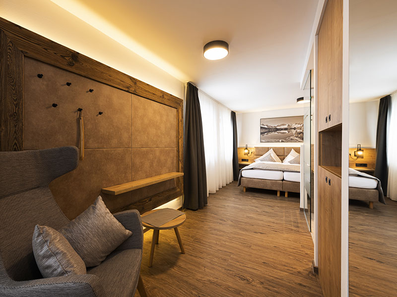 Doppelzimmer Deluxe Alpin Style Gletscherblick