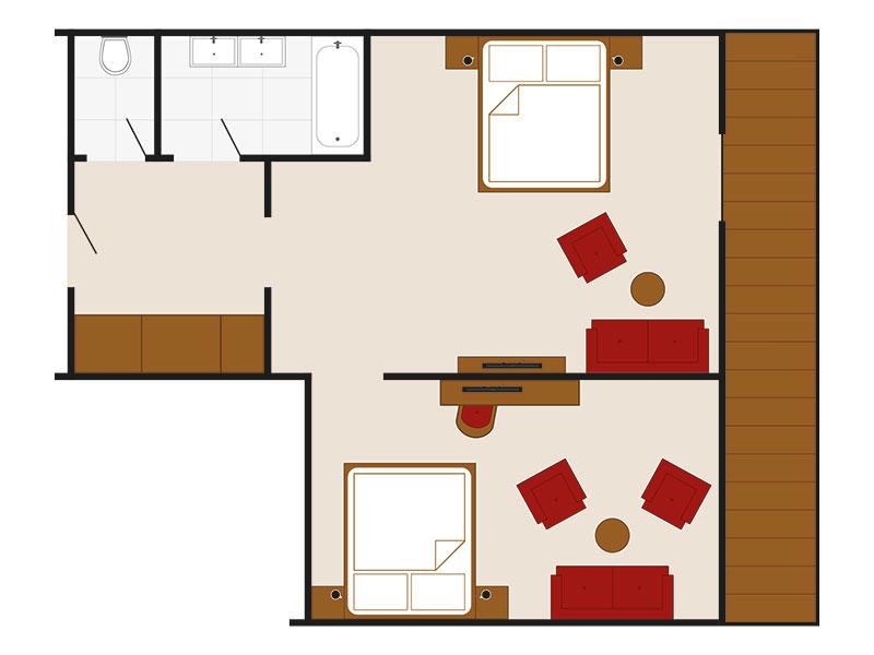 Skizze Appartement Kreuzjoch – Familienappartement Landhaus Style