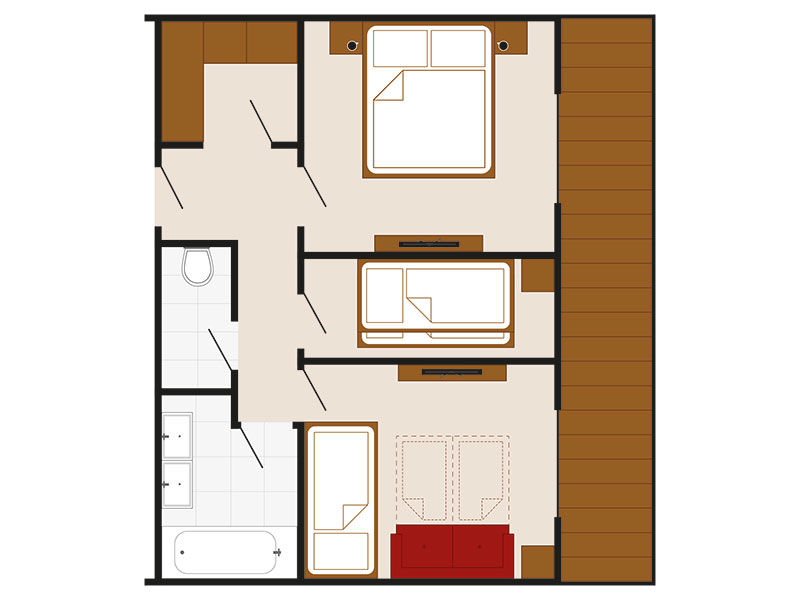 [Translate to en:] Skizze Appartement Kreuzjoch – Familienappartement Landhaus Style